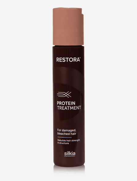 Restora Protein Treatment restores strength, elasticity and shine to damaged and bleached hair.